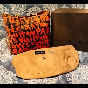 Louis Vuitton Orange Graffiti NF Gm